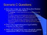 scenario c questions
