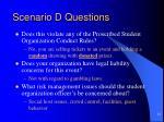 scenario d questions