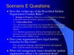 scenario e questions