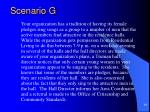 scenario g