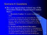 scenario k questions