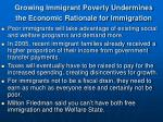 growing immigrant poverty undermines the economic rationale for immigration
