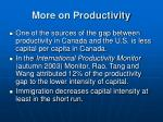 more on productivity