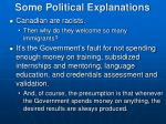 some political explanations