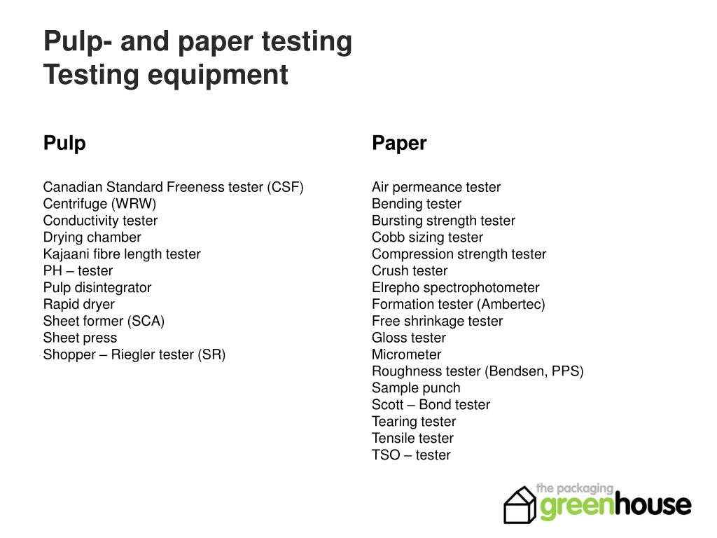 pulp and paper testing testing equipment l.
