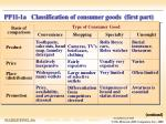 pp11 1a classification of consumer goods first part