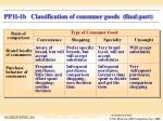 pp11 1b classification of consumer goods final part