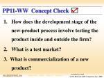 pp11 ww concept check