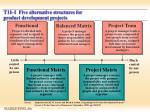 t11 i five alternative structures for product development projects