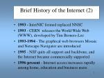 brief history of the internet 2
