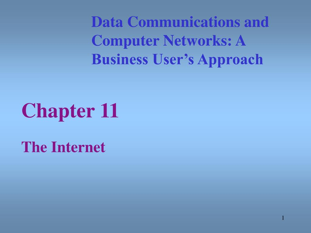 chapter 11 the internet l.