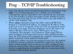 ping tcp ip troubleshooting