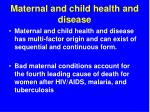 maternal and child health and disease