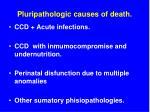pluripathologic causes of death