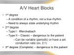 a v heart blocks