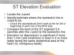 st elevation evaluation