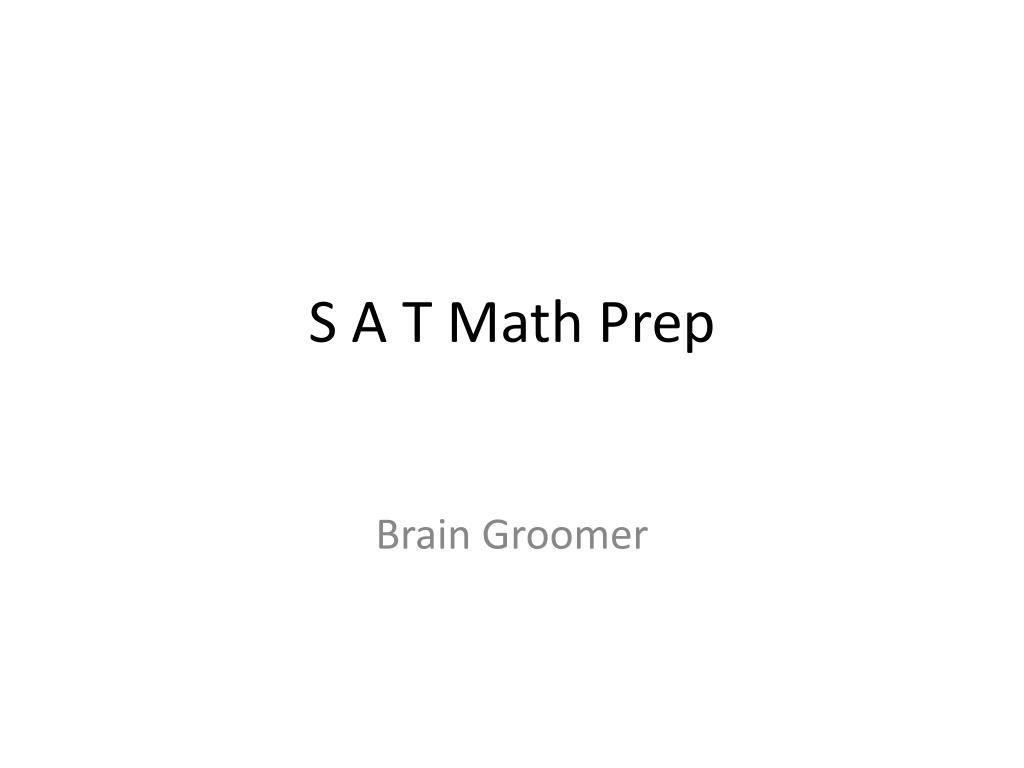 s a t math prep l.