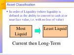 asset classification