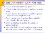 capital cost allowance cca one asset