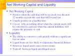 net working capital and liquidity