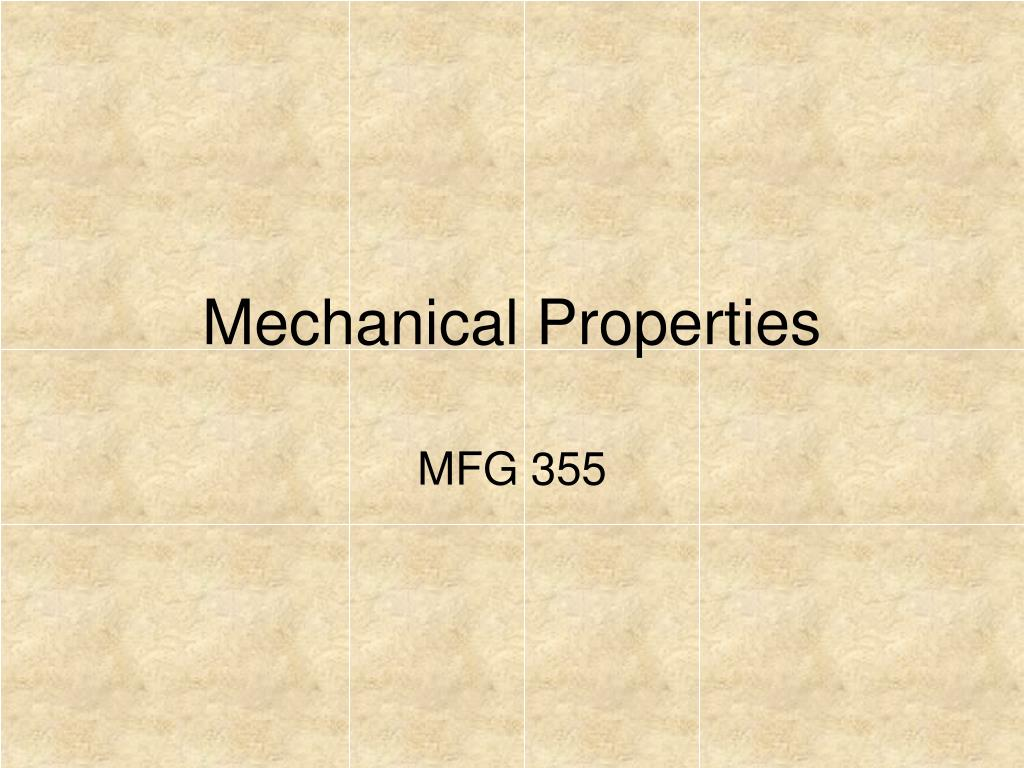 mechanical properties l.