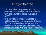 energy recovery