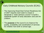 early childhood advisory councils ecac