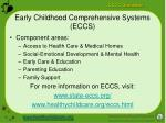 early childhood comprehensive systems eccs