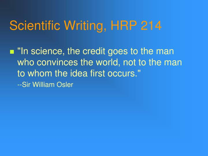 scientific writing hrp 214 n.