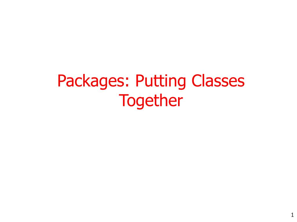 packages putting classes together l.