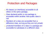 protection and packages