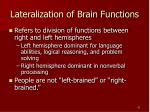 lateralization of brain functions