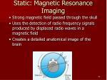 static magnetic resonance imaging