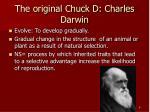 the original chuck d charles darwin