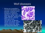 wolf diseases