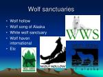 wolf sanctuaries