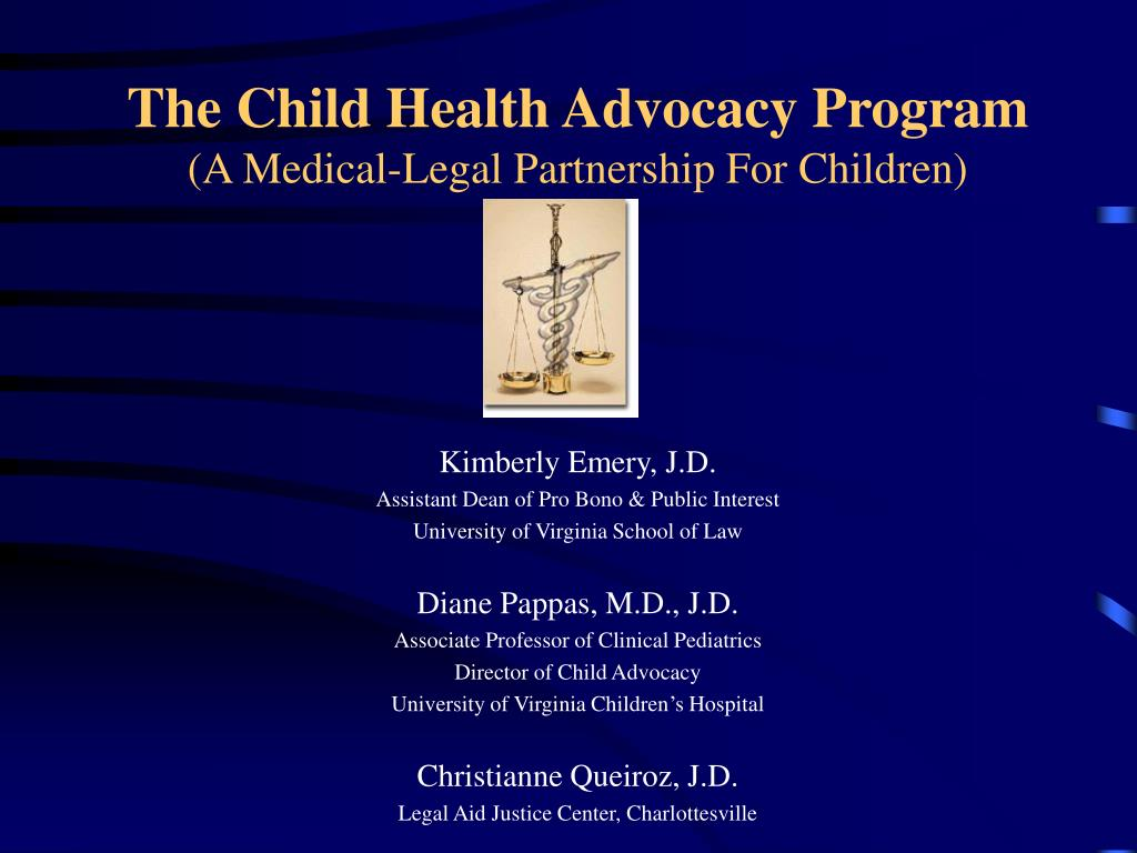 the child health advocacy program a medical legal partnership for children l.