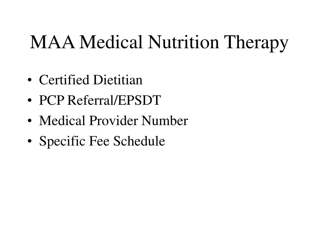 MAA Medical Nutrition Therapy