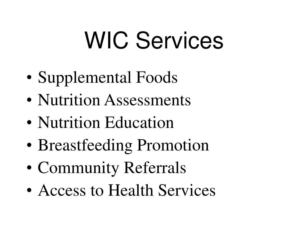 WIC Services