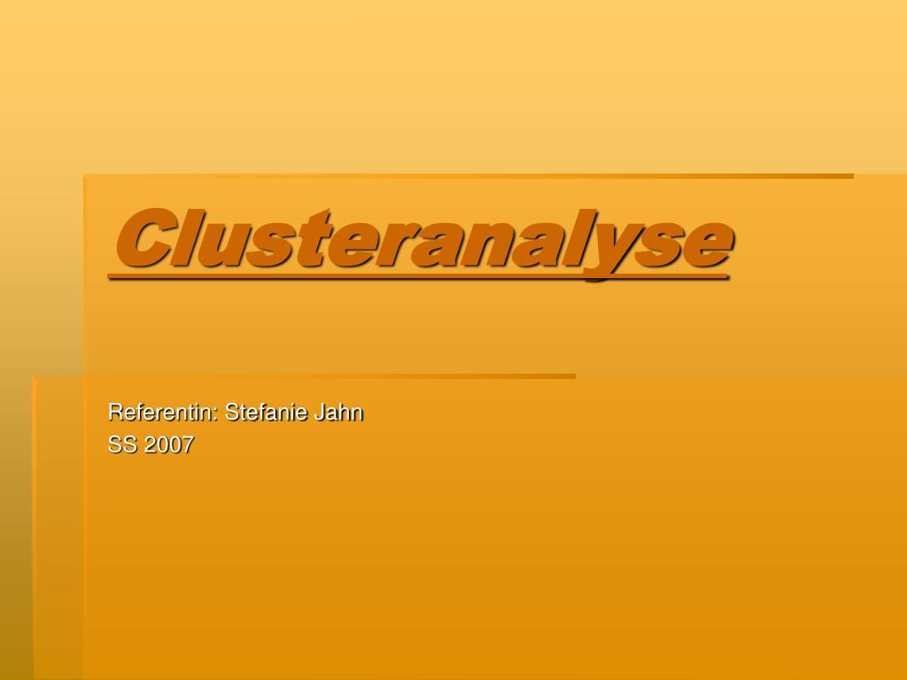 clusteranalyse l.