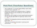 post test true false questions