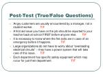 post test true false questions17