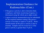 implementation guidance for radionuclides cont