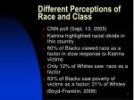 different perceptions of race and class