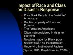 impact of race and class on disaster response