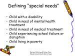 defining special needs