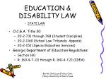 education disability law
