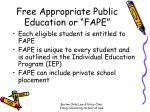 free appropriate public education or fape