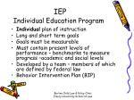 iep individual education program