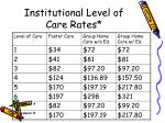 institutional level of care rates
